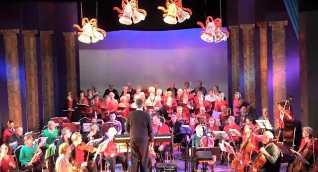 Christmas concert rehearsal